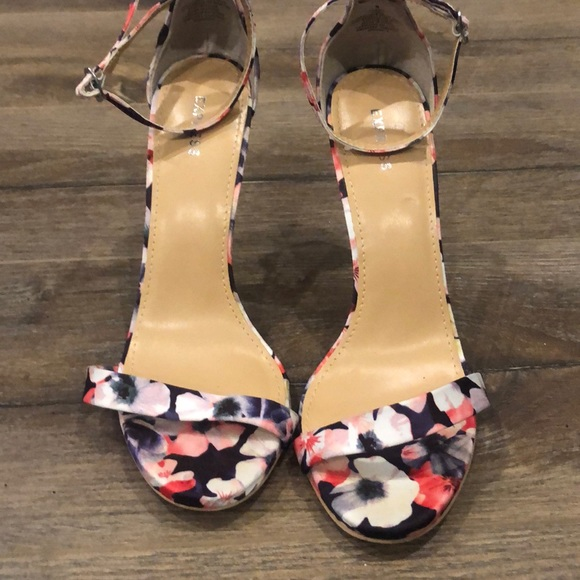 Worn once for a wedding- floral sandals